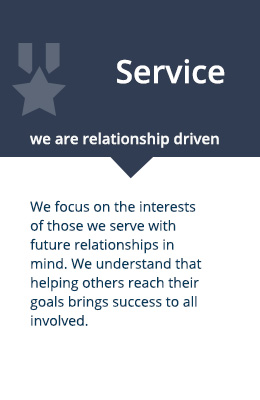 service: we are relationship driven